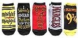 Harry Potter Mischief Managed Platform 9 3/4 Juniors/Womens 5 Pack Ankle Socks Size 4-10