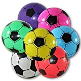 Lot de 4 Ballons de football en plastique - 20 cm