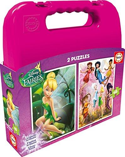 Educa Borrás - Maleta con 2 Puzzles Fairies, 48...
