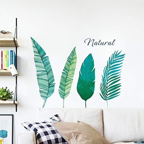 VCTQR Muursticker Palm Bladeren groen Plant landschap Muurstickers Groen Blad Varens muur Decals Woonkamer Slaapkamer Home Decor Muren