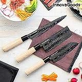 InnovaGoods IG814816 Set de Cuchillos Japoneses con Funda de Transporte Damas·Q, Acero Inoxidable