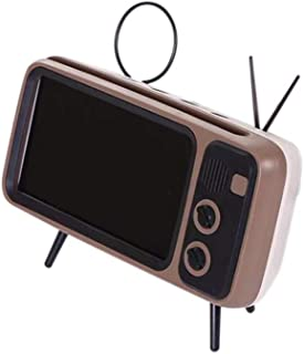 PTH800 Retro TV Mobile Phone Bracket Wireless BT Speaker Mini Portable Audio White