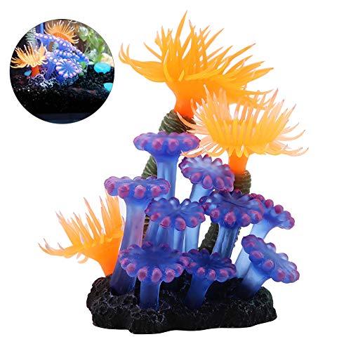 HEEPDD Aquarium Dekoration Silicon zur Aquariumsimulation Coral Sea Anemone Künstliche Wasserpflanzen Aquarium Landschaft Dekoration