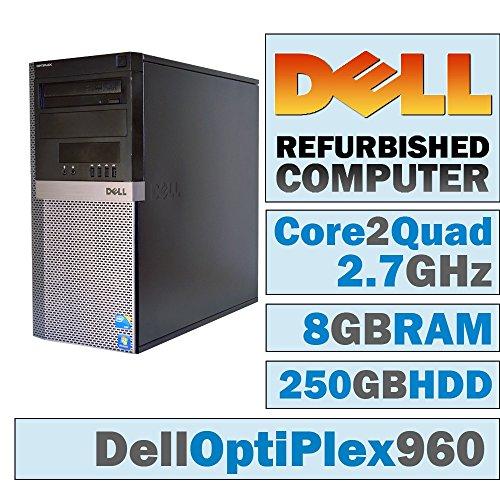 Dell OptiPlex 960 MT/Core 2 Quad Q9400 @ 2.66 GHz/8GB DDR2/250GB HDD/DVD-RW/No OS
