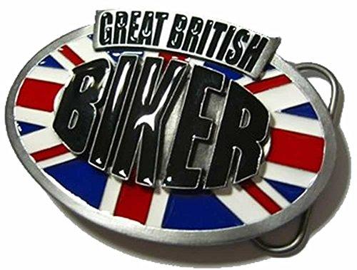 GREAT BRITISH BIKER Boucle de Ceinture + présentoir