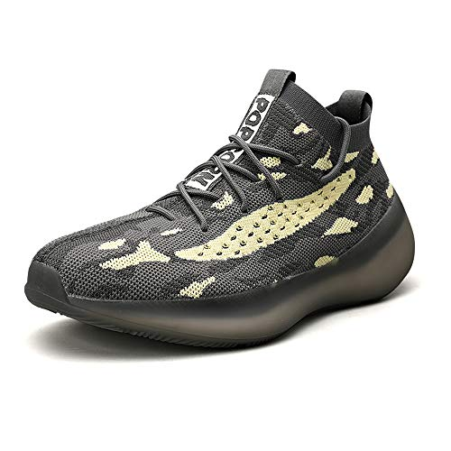 Zapatillas Moda Running para Hombre Deportivas Hombre Mujer Zapatos para Correr Gimnasio Sneaker Aire Libre y Deportes Calzado Gray 44