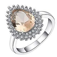 Xiang Ru リング 指輪 婚約指輪 レディース オシャレ ファッション プレゼント 彼女 ジルコニア シルバー約14号