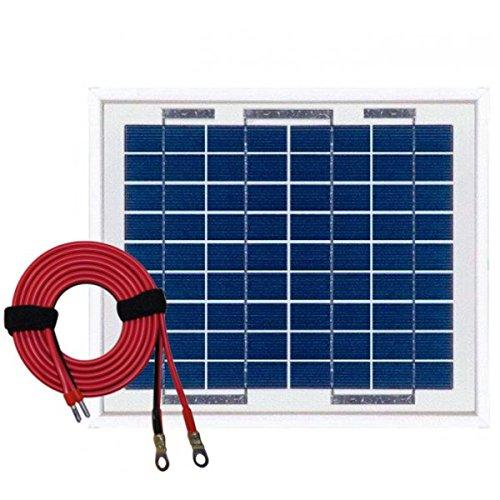 Panneau solaire polycristallin 5W 12V avec câble 2m50