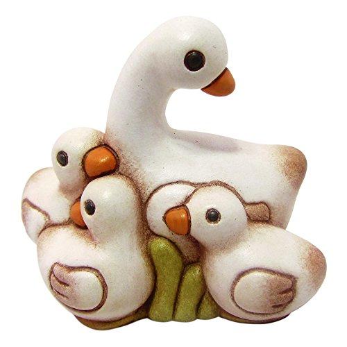 THUN® - Oca Bianca con Anatroccoli - Statuine Presepe Classico - Ceramica - I Classici
