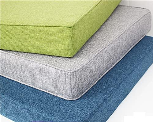Zoomlie VisLarsc - Cojín para asiento de banco de 2 plazas para interiores y exteriores, 90/100/120 cm de largo para silla de banco, cojines para jardín, patio, comedor, ventana, sofá (80 x 45 x 5 cm)