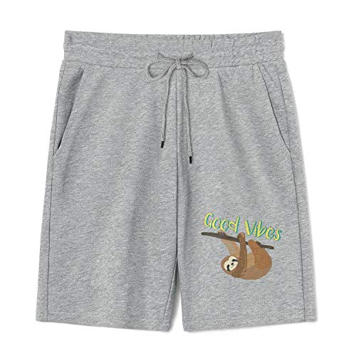 I'm That Crazy Girl Who Loves Sloths Mens Shorts with Pockets Soft Cotton Pajama Pants for Workout