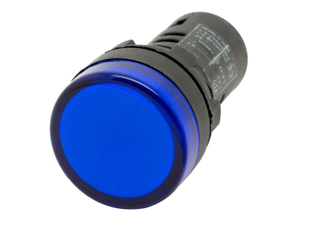 Alpinetech NPL-22 22mm 220V AC LED Pilot Indicator Light Blue