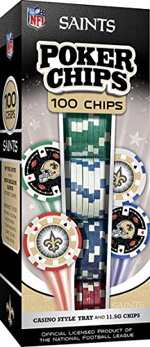 MasterPieces NFL New Orleans Saints 100-Piece Poker Chips