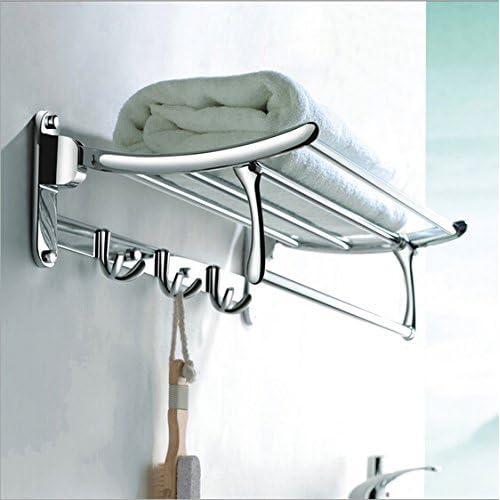 Planet Platinum High Grade Stainless Steel Folding Towel Rack (1.5 feet Long/18 inch) Bathroom Rack/Towel Bar/Towel Stand/Bathroom Accessories