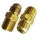 Legines Brass Flare Half Union SAE 45 Degree Flared Tube Fitting 1/4