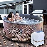 m-spa MSpa Tekapo Entspannung und HYDROTHERAPIE 6-Person-quadratisch tragbar aufblasbarer Whirlpool Bubble d-te06(neuesten 2018Modell)