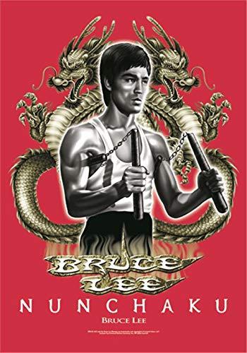 Heart Rock Original Bruce Lee Nunchaku, Stoff, Mehrfarbig, 110x75x0.1 cm