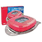 Megableu Allianz Arena Bayer De Munich Puzzle 3D Mixte Adulte, Rouge - Rouge, Taille 1