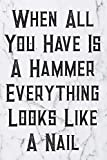 When All You Have Is A Hammer Everything Looks Like A Nail: Blank Lined Journal For Handyman, Carpenters, Plumbers And Electricians Notebook Gift