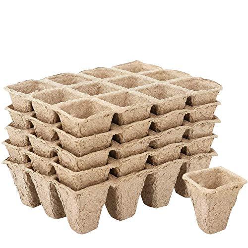 Seed Starter Tray Kit Pots- Organic Biodegradable Germination...