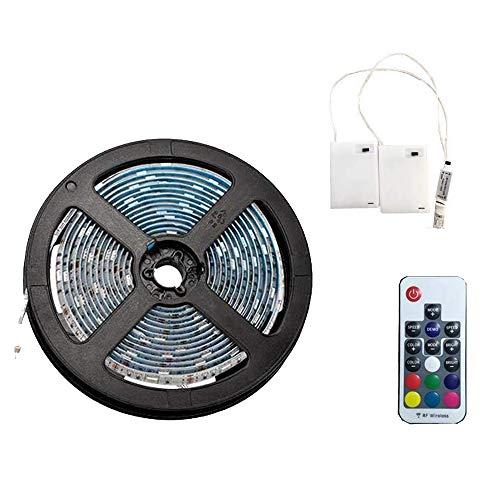 5m LED-Streifenlichter mit 24 Tasten Fernbedienung und Kasten, RGB 5050 Wasserdichtes Multicolor Lichtleiste für Weihnachten Hause Indoor und Ourdoor Dekoration