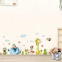 Cartoon Animal Party Wall Stickers Diy Decal Kids Adhesive Vinyl Wallpaper Mural Baby Girl Boy Room Nursery Decor