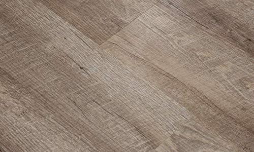 Rustic Oak DeTo 41 Klick Vinylboden Premium Vinylbodenbelag mit Klicksystem Pflegeleichte und wasserfeste Vinyl Bodenbeläge mit Trittschaldämmung (Muster ca.18 x 18cm)