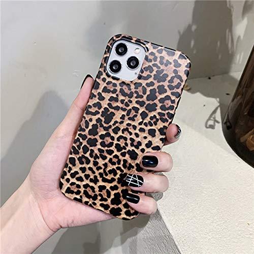 LIUYAWEI Estuche para teléfono con Estampado de Leopardo para iPhone 12 Pro MAX 11 Pro MAX XS MAX XR X 7 8 6 6S Plus SE 2020 Carcasa Trasera de TPU Suave Colorida de Lujo, T4, para iPhone 8 Plus