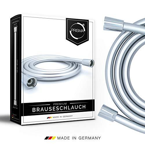 """PRISMA Premium Brauseschlauch 125cm mit doppeltem Verdrehschutz. Duschschlauch MADE IN GERMANY - Universeller G1/2"""" Anschluss"""