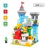SpringFlower Building Blocks, Automatic Marble Run set, Castle Fairy Tale Theme, Educational Construction Toys Set, Best New year gift for Kids, Boys, and Girls 3 4 5 6 7 8 Years Old & Up,154pcs