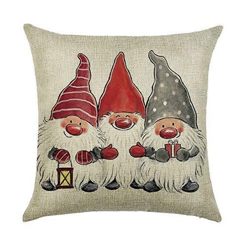 TREESTAR Canciones navidad almohada roja verde sofá