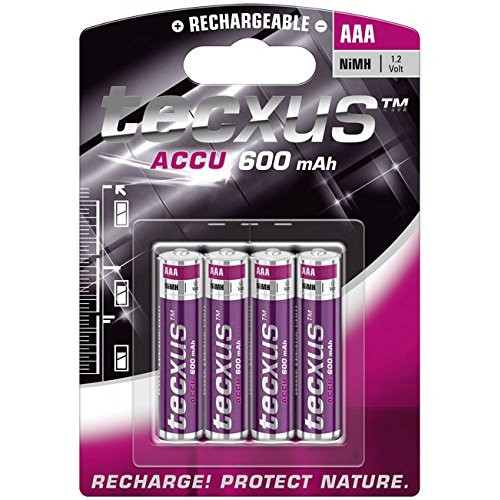 Tecxus 14112 Micro AAA (1,2V, 600mAh) Akku, 4-er Pack