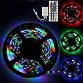 LED Strip Lights, 5M RGB LED Light Strip 3258 LED Tape Lights, Color Changing LED Strip Lights with Remote for Home Lighting Kitchen Bed Flexible Strip Lights for Bar Home