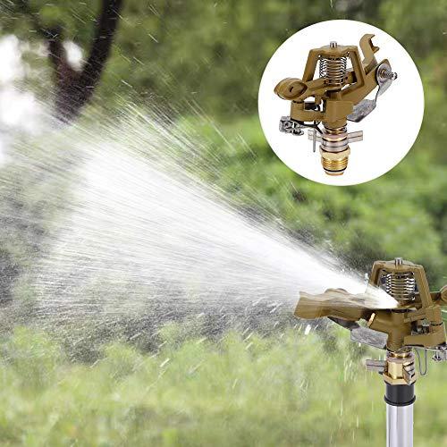 Shanbor Aspersor Giratorio de jardín de 360 °, aspersor rotativo Profesional, Distancia de pulverización de Ahorro de Agua para riego agrícola Invernadero