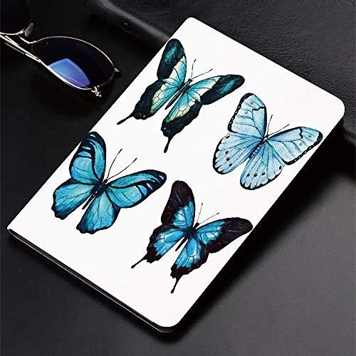 Funda para iPad (9,7 pulgadas, modelo 2018/2017, 6.a / 5.a generación) Funda inteligente ultradelgada y liviana, mariposas, elegante colección de mariposas con alas ornamentadas Life Watercolour, fund