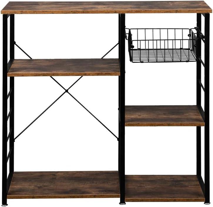 2021 autumn and Baltimore Mall winter new YAngXiaoYan 5-Layer Wrought Iron with Kitchen Hook Shelf