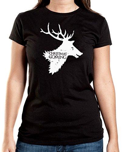 Certified Freak Christmas is Coming T-Shirt Girls Black M