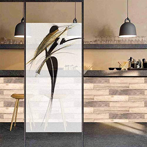 "Albert Lindsay Backdrop 3D Decorative Window Film Best Fashions Images in 2019 Fashion Frosted Non Adhesive Decorative Glass Privacy Film,11.8""x48"", for Home Office Decoration"