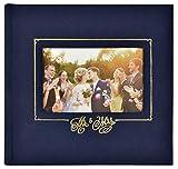 MCS MBI 860157 Mr. & Mrs. Wedding Photo Album, 8.5 x 8.5, Navy...