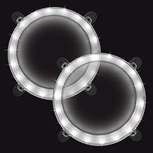 چراغهای حلقه ای Cornhole Boards ، یک ست دو چراغ Cornhole ، کیت چراغهای حلقه ای ضد آب LED ضد کیف برای کیف های سوراخ دار ، کیف های لوبیا ، بازی های Tailgate ، بازی های حیاط