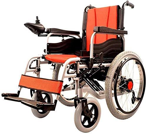 Silla de ruedas eléctrica plegable y ligera (batería de iones de litio de 20 Ah) con perforación eléctrica o se puede utilizar como silla de ruedas manual.