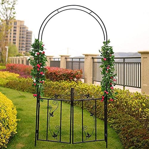 KONGWU Plant Cage Garden Iron Arch Climbing Frame Suitable For All Kinds Of Climbing Plants Garden Trees Outdoor Garden Lawn Backyard Black Amazing