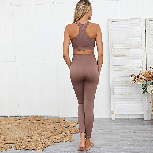 Weichuang - Pantalones cortos de yoga para mujer