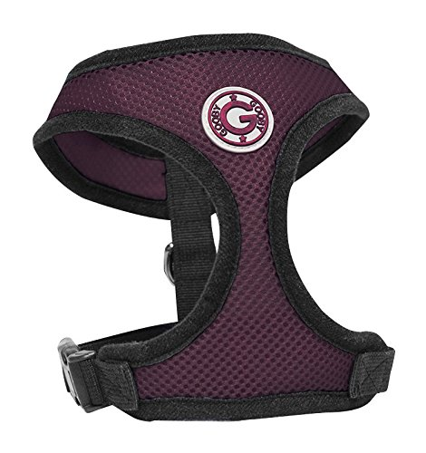 Gooby Soft Breathable Mesh Dog Harness for Small Pets, Medium, Purple