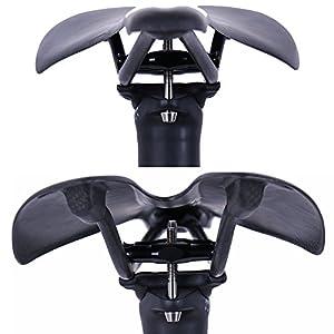 QIKU Tija de Sillín de Carbono Ultraligero 27.2 sillín de Bicicleta de Tubo 31.6 Blanco Logo (27.2 * 350mm)