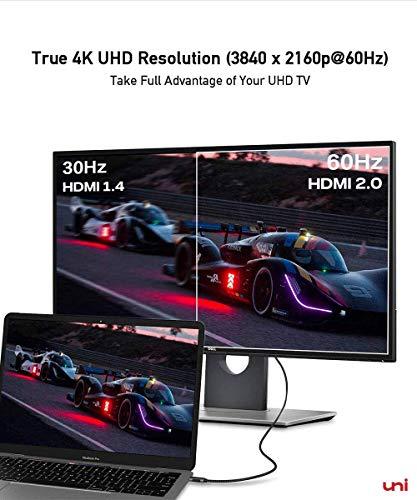 USB C auf HDMI Kabel (4K@60Hz), USB Typ C zu HDMI 2.0 Kabel [Thunderbolt 3 kompatibel] für Chromebooks und viele weitere Notebooks - 3