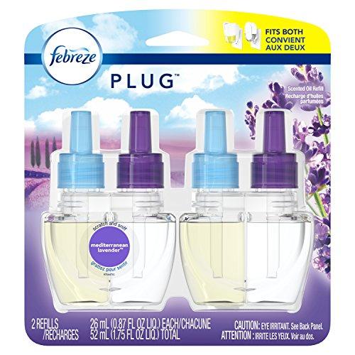 Febreze Plug Odor-Eliminating Air Freshener Scented Oil Refill - Mediterraenan Lavender - 2ct