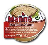 Manná, Paté di Tonno Piccante, Confezione da 22 gr x 24