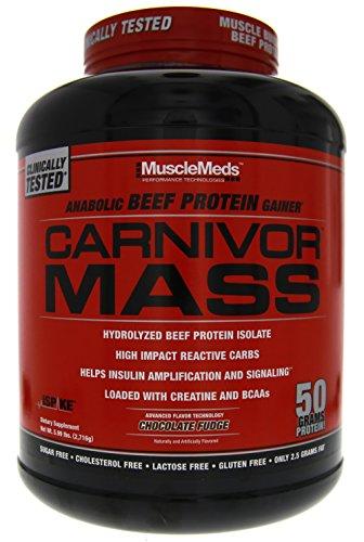 MuscleMeds Carnivor Mass Chocolate Fudge 5.99 lbs.