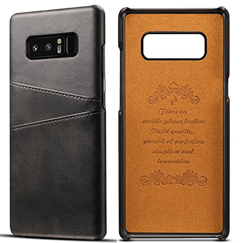 Galaxy Note 8 Credit Card Case,Inspirationc Slim PU Leather Back Case Cover With Wallet Phone Holder for Samsung Galaxy Note 8--Black
